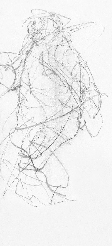 Božidar Strman Mišo – Skica za bloškega smučarja